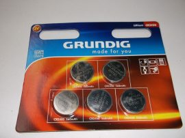 Lítium gombelem, CR2450, 3V, 560mAh, Grundig, 1db
