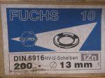 M12 (13x24x3) nagyfeszültségű lapos alátét HV kötésekhez, tüzihorganyzott, 18 Ft/db, DIN6916, Fuchs