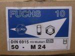 M24 hatlapú, nagyfeszültségű HV anya, tZn bevonat, (matt), 200 Ft/db, DIN6915, Fuchs