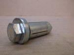 M10x55 hatlapfejű Acéldűbel szerkezeti acélokhoz, horganyzott, Lindapter HB10-1 Hollo-Bolt, 1200 Ft/db.