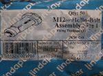 M12x60 hatlapfejű Acéldűbel szerkezeti acélokhoz, horganyzott, Lindapter HB12-1 Hollo-Bolt, 1270 Ft/db.