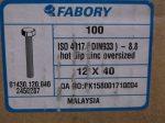 M12x40 hatlapfejű tövig menetes csavar, 8.8, tüzihorganyzott, 20 Ft/db, DIN933-8.8, Fabory/CW
