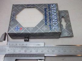 Szalmiák, Stannol, 65x45x20mm
