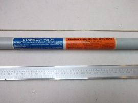 Keményforrasztó pálca, Stannol L-Ag34Sn, 1,5x500mm, DIN 8513, az ár 1 db. pálcára vonatkozik.