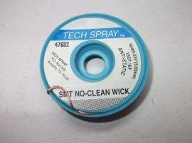 Rézharisnya, kiforrasztó szalag, antisztatikus, TechSpray SMT NoClean Wick 1827-10F, 0,63mm/3m
