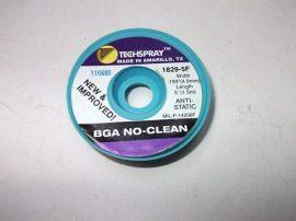 Rézharisnya, kiforrasztó szalag, antisztatikus, TechSpray BGA NoClean 1829-5F, 4,9mm/1,5m