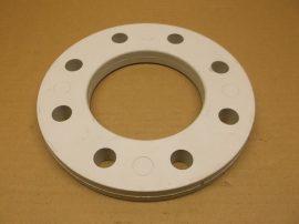 DN90 da90 műanyag csatlakozó karima, műanyag csövekhez, 110x202x20mm, AGRU 14.014.0090.11