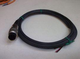 Szenzorkábel 1 csatlakozóval, 1,5m, 3 eres, M16x1 4pin, Alpha wire AWM 20233, LL41103, 25193