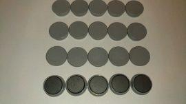 Táblamágnes, hűtőmágnes, tartómágnes, szürke, 50db/csomag, 38mm átmérő, 12mm vastag, hansawerke 7538-21, erős, síkra merőleges húzóerő 2,5kg, bruttó 150.-Ft/db, Stroncium-Ferrit korong mágnes