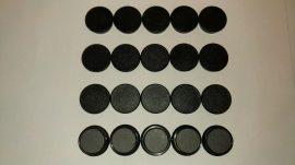 Táblamágnes, hűtőmágnes, tartómágnes, fekete, 50db/csomag, 38mm átmérő, 12mm vastag, hansawerke 7538, erős, síkra merőleges húzóerő 2,5kg, bruttó 150.-Ft/db, Stroncium-Ferrit korong mágnes