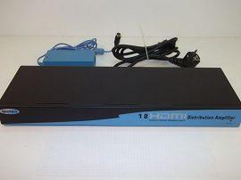 HDMI osztó és erősítő, HDMI distribution amplifier, fekete, 1:8 portos, HDMI/HDCP, (EXT-HDMI-148), Gefen Ex.tend.it.repeater