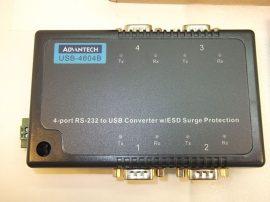 RS232 - USB átalakító, konverter, 4 portos, Advantech USB-4604B-AE, ESD védelem