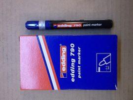 Edding 790 lakkmarker, lakkfilc, kék 003, 2-3 mm kerek vég, 5db/csomag, bruttó 600.-Ft/db.