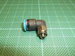 Pneumatikus L gyorscsatlakozó, 90°, M5, 6mm-es csőhöz, Festo QSML-M5-6, 153335