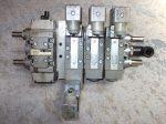 Szeleptömb 4 részes, mágnestekercsekkel, 24VDC, Bosch size1 iso1 összeállítás