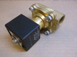 """Asco SCE210C35VM Mágnesszelep, 2/2 szelep, NO, levegő, víz, olaj, 9bar / vacuum, 110/120VAC 10W, BM-G3/4"""", 4,7 m3/h"""