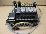 Pneumatikus szeleptömb mágnesszelepekkel, vezérlővel, 24VDC, Festo Q106 152249, OS-PK-3-6/3 4232, MEH-5/2-5,0-I-B 173406, VL-5/2-5,0-B 173169, Suco 660503
