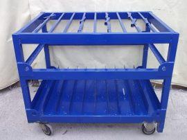 Anyagtároló kocsi, kék, 128x90x99 cm (h*sz*m), 4 kerekes, 2 kerék kormányozható, nagy teherbírású