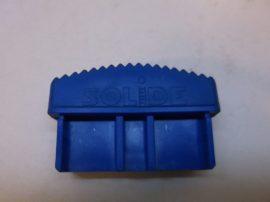 Csúszásgátló talp, kék lábdugó, Solide 070, álványokhoz, létrákhoz, 22x65 mm-es belső méretű profilba