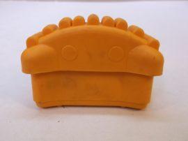 Csúszásgátló talp, sárga lábdugó, álványokhoz, létrákhoz, 23x69 mm-es belső méretű profilba