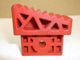 Csúszásgátló talp, lábdugó álványokhoz, létrákhoz, 25x49 mm-es belső méretű profilba piros, Castor/Taurus 720053