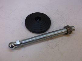 Elesa LV.A-100-24-AS-M20x198 Láb, csúszásgátlós géptalp, állítható, szintezhető, dönthető, menetes szárral, gumitalppal, 309681
