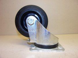 Forgózsámolyos ipari kerék, hengergörgős csapággyal, gumi futófelület, Blickle 100x38, xyz