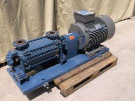 6 lépcsős nagynyomású centrifugál szivattyú, 40m3/h, 260m, 3~ 400VAC 55kW 2970rpm, Ritz 12BA250M-2 B3 motor, Ritz HP45 4550/6/E szivattyú (HP50-180E/6)