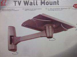 """Állítható fali tartó, TV, monitor, hangszóró, projektor, műszer, virágtartó állvány, Barcan Mounting systems, model 125, 27"""" antracit"""