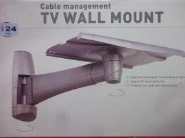 """Állítható fali tartó, TV, monitor, hangszóró, projektor, műszer, virágtartó állvány, Barcan Mounting systems, model 124, 27"""" / 68cm, ezüst"""