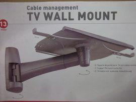 """Állítható fali tartó, TV, monitor, hangszóró, projektor, műszer, virágtartó állvány, Barcan Mounting systems, model 13, 29"""" grafitszürke"""
