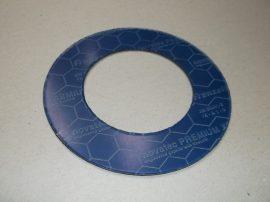 Hőálló grafit-kevlár tömítő gyűrű, 80x135x1,5mm, max 300°C, Frenzelit Novatec Premium XP FA-A1-0 DIN28091-2, karimás csatlakozásokhoz