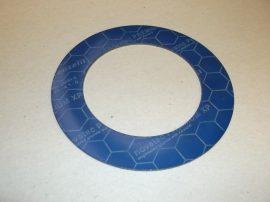 Hőálló grafit-kevlár tömítő gyűrű, 89x136x1,5mm, max 300°C, Frenzelit Novatec Premium XP FA-A1-0 DIN28091-2, karimás csatlakozásokhoz