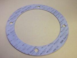 Hőálló teflon PTFE tömítő gyűrű, 260x350x3,2mm, -210..+260°C, 4 lyukas, Eriks RX filled PTFE 150 DIN28091-3, karimás csatlakozásokhoz