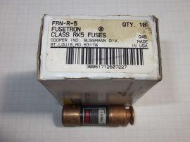 Biztosíték 14,5x50,8 mm (14x51mm), 5A 250VAC, Bussmann Fusetron FRN-R-5 RK5