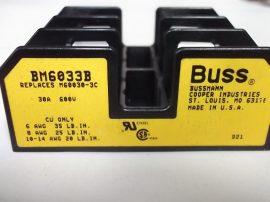 Biztosíték foglalat 3 pólusos, 30A 600VAC, Bussmann BM6033B, M60030-3C