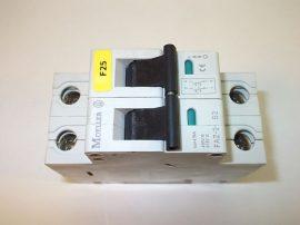 Kismegszakító 2 pólusú, 2A 400/415VAC 4,5kA, Moeller FAZ-2-S2
