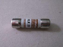 Biztosíték 10,3x38 mm, 20A 600VAC/500VDC, Littelfuse KLK20, gyors