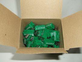 Biztonsági önzáró műanyag plomba, 7 jegyű sorszámozott, 100db, zöld, PSW97 Seals