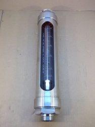 Áramlásmérő, rotaméter vízhez, rozsdamentes ház, 0,5-5m3/h, 20°C 2bar, Unirota RM-05, 99-289-1079