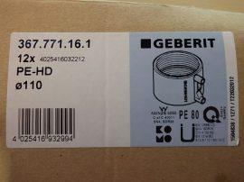Elektrofúziós csőtoldó, 110mm-es csőhöz, PE80, Geberit 367.771.16.1 PE-HD, 4025416032212, ESG40/200 géphez