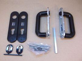 Ajtókilincs készlet, Teckentrup 100100, fogantyúkkal, zárcimkékkel, és egyéb tartozékokkal, 72/9 mm, közületi ajtókhoz tűzvédelmi fogantyú