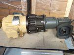 Hajtóműves motor, fékes, tengelykapcsolós, 0,736 kW, Baldor IDNM3581T, 3SFM, FMCBE 875