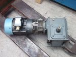 Hajtóműves motor, fékes, tengelykapcsolós, 1,47 kW, 175rpm, Baldor-Nexen IDM3587T,  MBU625 + MDU875