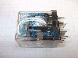 Relé 24VDC 5A 250VAC 4 pólusú váltóérintkezős HC4-DC24V Matsushita