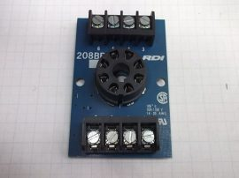Relé foglalat 8 pólusú 10A 150V Augat RDI 208BR