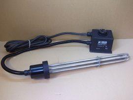 Elektromos fűtőbetét, fűtőpatron hőfokszabályozóval, 6kW, 400VAC, DRALL 21600142, medencefűtéshez, elektromos kazánhoz