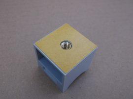 Csőre rögzíthető öntapadós címketartó, csőjelölő, 30x30mm, 50db, Klug-Patenthalter P10