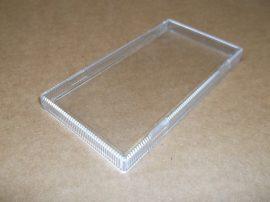 Műanyag fedél csőre rögzíthető öntapadós címketartóhoz, 100x50mm, 50db, Klug-Schilder Klarsichtabdeckung für Klug Schilder