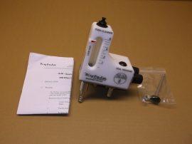 Áramlásmérő, áramlásszabályozó, szabályozható 0,5-8l/min, 20bar max, 100°C max, 10mm barb, Kytola Instruments SLM8-GH03-MP, Eisenmann 42240050